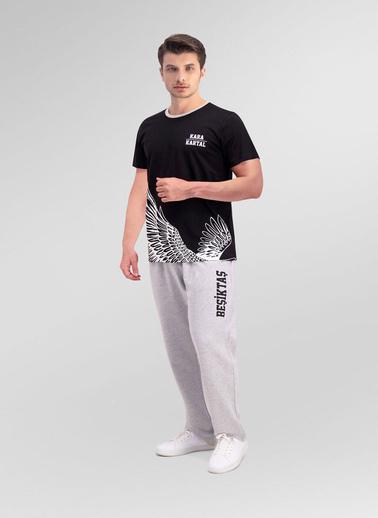 Beşiktaş Beşiktaş Lisanslı Siyah Erkek Pijama Takımı Siyah